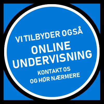 Vi tilbyder også onlineundervisning